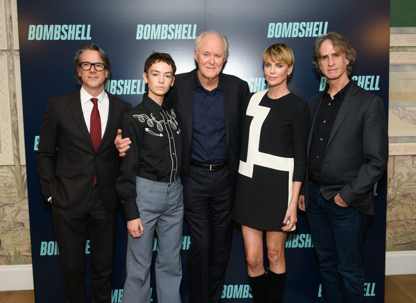 More Pics of Charlize Theron Bowl Cut (3 of 9) - Bowl Cut Lookbook - StyleBistro [bombshell,event,premiere,team,white-collar worker,charles randolph,charlize theron,john lithgow,brigette lundy-paine,jay roach,l-r,new york,screening,new york screening]