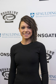 Tatiana Maslany looked punky with her side-swept waves at the Boston premiere of 'Stronger.'