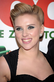 Scarlett Johansson wore a pair of vintage diamond platinum leaf ear clips at the premiere of 'We Bought a Zoo.'