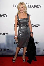 Kerry-Anne simply shined in this silver metallic dress on the red carpet of 'The Bourne Legacy.'