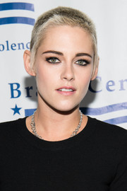 Kristen Stewart attended the Brady Center Bear Awards Gala wearing her signature buzzcut.