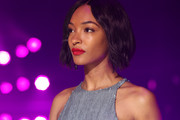 Jourdan Dunn made her pout pop with a swipe of matte red lipstick.