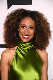 Elaine Welteroth wore her hair in an afro at the 'Project Runway' New York premiere.