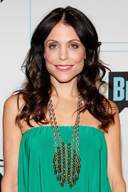 Bethenny Frankel attended Bravo Upfront wearing a sheer wash of metallic gold eyeshadow.
