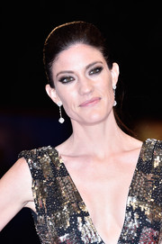 Jennifer Carpenter brushed her hair back into a sleek ponytail for the Venice Film Festival premiere of 'Brawl in Cell Block 99.'