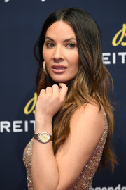 Olivia Munn showed off boho-glam waves at the Breitling #LEGENDARYFUTURE Roadshow.
