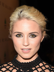 Dianna Agron went for an edgy beauty look with a smoldering cat eye.