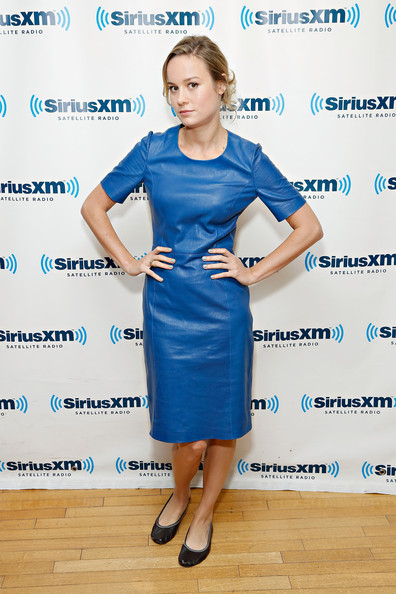 Brie Larson Leather Dress