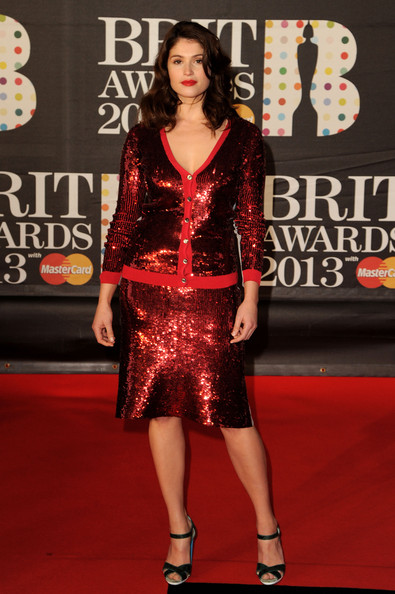 Gemma Arterton in a Red Sequined Set