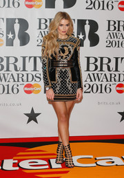 Tallia Storm's Balmain x H&M gladiator heels were the perfect finishing touch to her outfit.