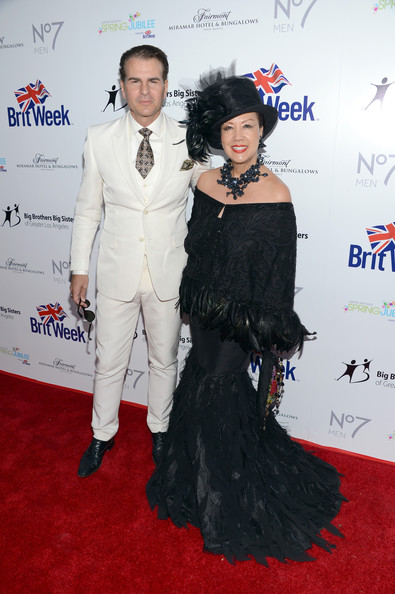Vincent DePaul was a standout in his white three-piece suit at the BritWeek Celebrates Downton Abbey event.
