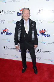 John Savage was dressed to impress in a black pinstripe blazer jazzed up with a paisley scarf at the BritWeek Celebrates Downton Abbey event.