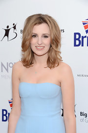Laura Carmichael looked her best with her tresses mildly curled at the BritWeek gala.