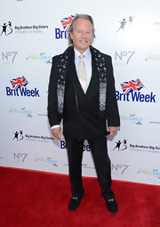 John Savage spruced up his ensemble with a black-and-white paisley scarf when he attended the BritWeek Celebrates Downton Abbey event.