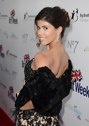 Branca Ferrazo amped up the glam factor with a black fur stole paired with an embellished dress at the BritWeek Celebrates Downton Abbey event.