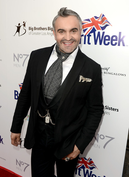 Martyn Lawrence-Bullard was all spruced up in a black tux and a patterned ascot for the BritWeek Celebrates Downton Abbey event.