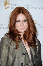Karen showed off her fiery red curls while hitting the red carpet.
