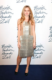 Georgia May Jagger channeled a '20s flapper in a beaded shift dress at the British Fashion Awards.