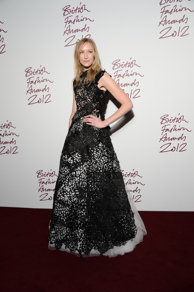 Jade Parfitt at the 2012 British Fashion Awards
