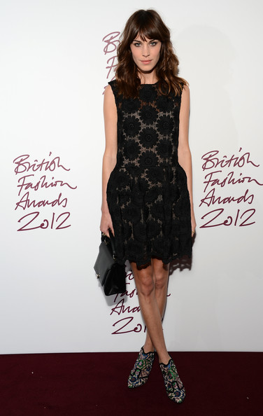 Alexa Chung at the 2012 British Fashion Awards