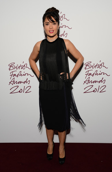 Salma Hayek at the 2012 British Fashion Awards