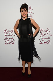 Salma got decked out in fringe for the British Fashion Awards.