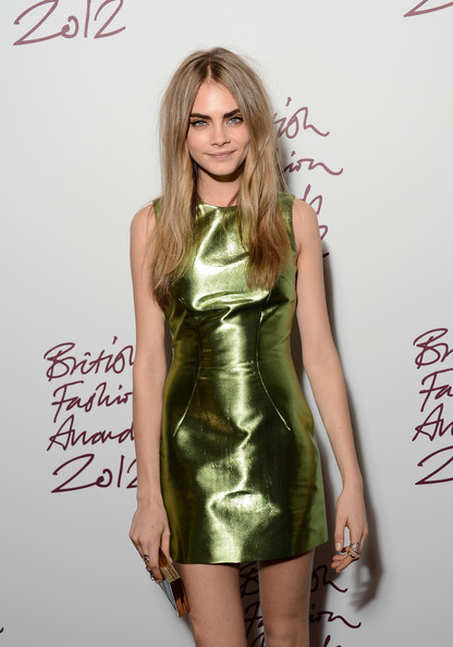 More Pics of Cara Delevingne Long Center Part (1 of 4) - Long Center Part Lookbook - StyleBistro