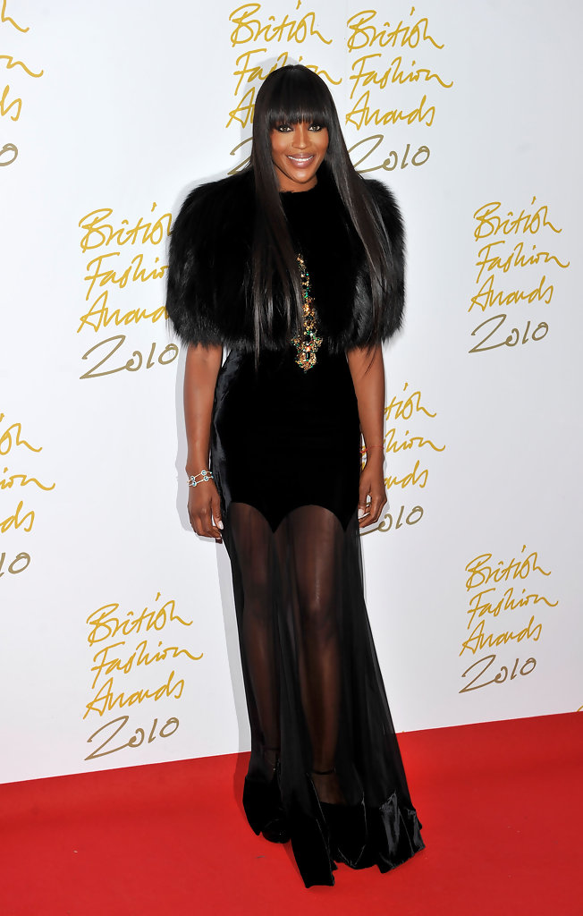 Naomi Campbell attends the British Fashion Awards at The Savoy on December 7, 2010 in London, England.
