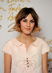 Alexa Chung debuted a cropped 'do while attending the British Fashion Awards. It's a subtle change from her previous shoulder length cut.