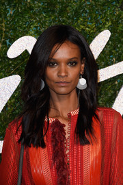 Liya Kebede opted for a casual loose hairstyle when she attended the British Fashion Awards.
