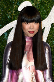 Susanna Lau sported a super-blunt haircut at the British Fashion Awards.