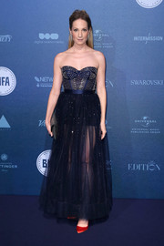 Joanne Froggatt was a temptress in a sparkling, sheer-bottom corset gown by Temperley London at the British Independent Film Awards.