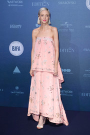 Andrea Riseborough opted for a loose, layered strapless gown by Erdem when she attended the British Independent Film Awards.