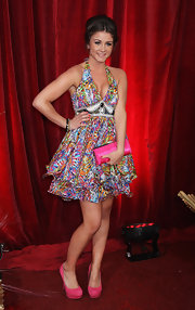 Booke Vincent showed off her colorful side while hitting the British Soap Awards.