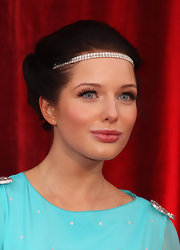 This elegant rhinestone hair accessory is dazzling on Helen Flanagan.