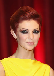 Lucy Dixon polished off her British Soap Awards red carpet look with a sophisticated pompadour.