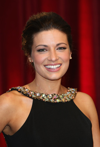 Sophie Austin was head-to-toe elegant at the British Soap Awards in this bobby-pinned updo and embellished gown combo.