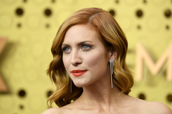 Brittany Snow Long Wavy Cut [hair,face,hairstyle,lip,eyebrow,beauty,skin,blond,chin,brown hair,arrivals,brittany snow,emmy awards,microsoft theater,los angeles,california]