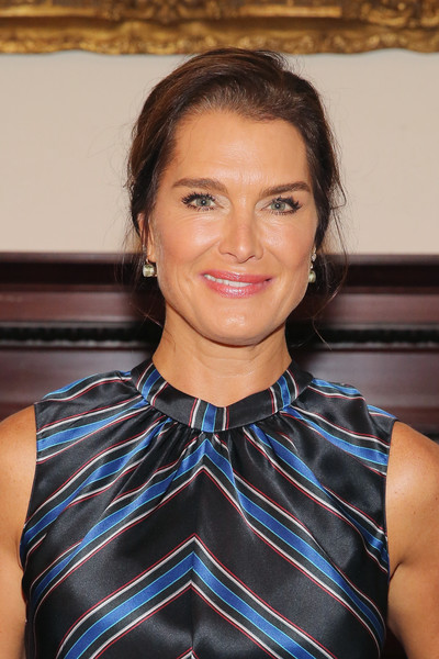 Brooke Shields Loose Bun