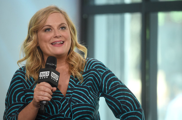 More Pics of Amy Poehler Print Blouse (4 of 31) - Amy Poehler Lookbook - StyleBistro [the house,movie,blond,microphone,audio equipment,technology,smile,photography,amy poehler,build presents will ferrell,new york city,build studios,build studio]