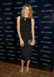 Black slim-strap sandals finished off Laura Dern's low-key attire.