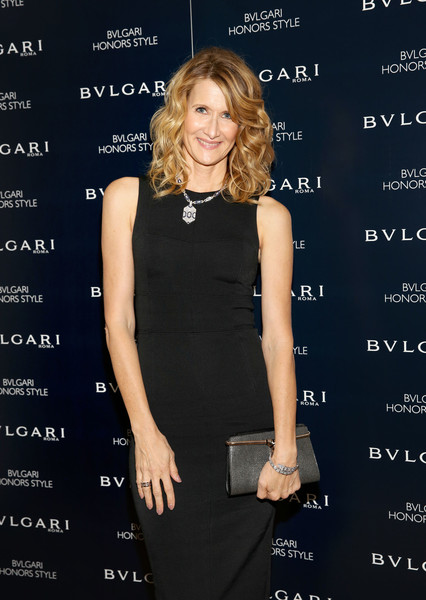 Laura Dern paired a metallic silver clutch with a little black dress for the Bulgari Honors Style event.
