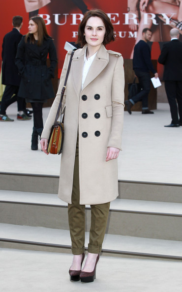 More Pics of Michelle Dockery Wool Coat (1 of 4) - Michelle Dockery Lookbook - StyleBistro