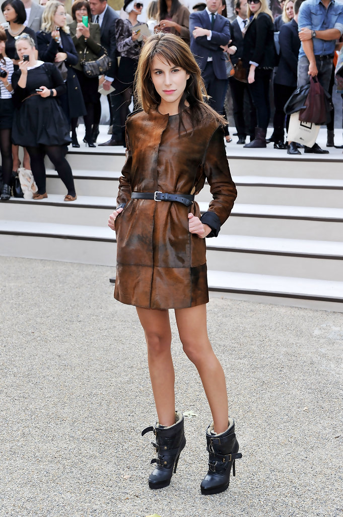 Caroline Sieber attends the Burberry Prorsum Spring/Summer 2011 fashion show during LFW at Chelsea College of Art and Design on September 21, 2010 in London, England.