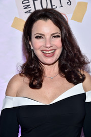 Fran Drescher looked very feminine with her curly 'do at the Busboys and Poets' Peace Ball.