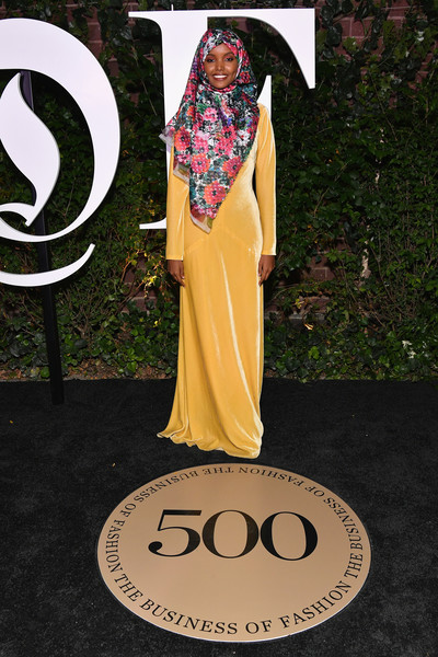 Halima Aden at the #BoF500 Gala