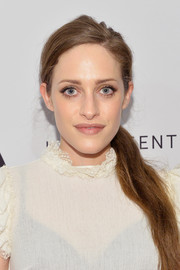 Carly Chaikin sported a side-swept ponytail at the Tribeca Film Fest premiere of 'Buster's Mal Heart.'