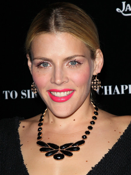 Busy Philipps Bright Lipstick