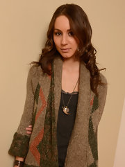 An animal claw necklace added a bit of an edge to Troian Bellisario's look during her 2013 Sundance Film Festival portrait session.