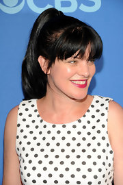 Pauley Perrette had fun with her look when she opted for this high ponytail.